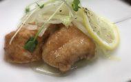 鮭のマリネ 皿