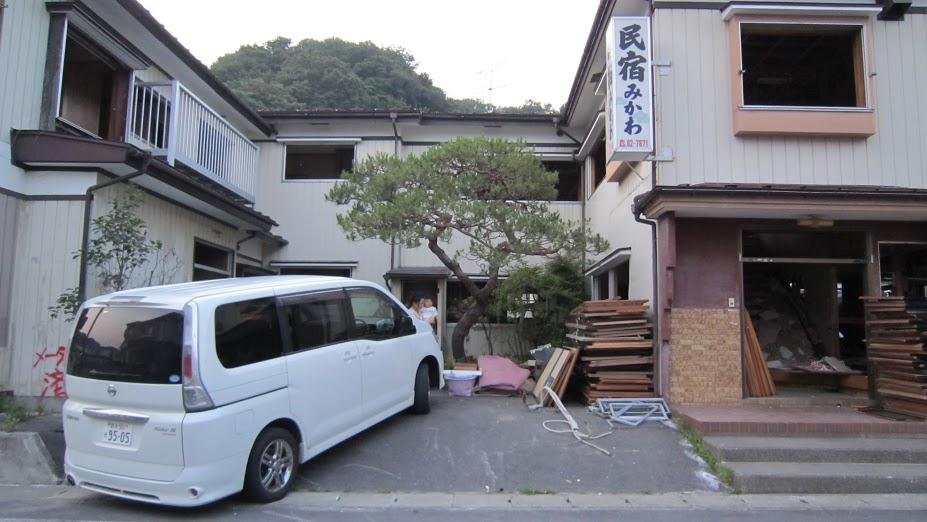 民宿みかわ 外観(震災後)